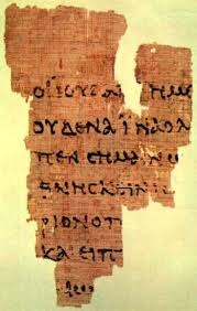 The Gospel of John-the earliest known existing fragment of the gospels. Dated 125 AD.