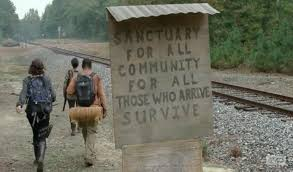 Sign luring people to Terminus.
