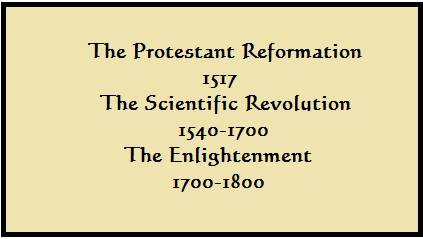 timeline of reformation, revolution, enlightenment
